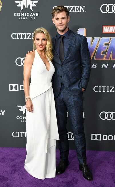 Elsa Pataky y Chirs Hemsworth, quien interpreta a Thor.