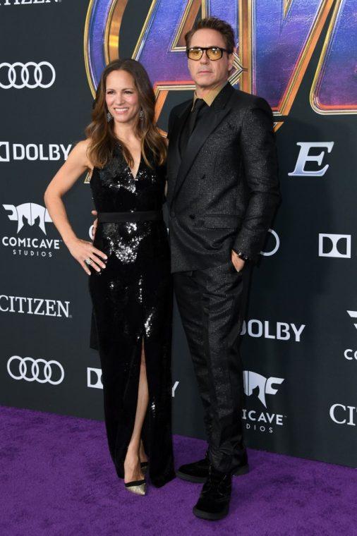 Iron Man, Robert Downey Jr. y su esposa Susan.